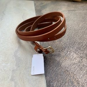 NWT j.Crew skinny Italian Leather belt